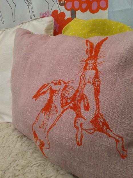 long cushion orange hare