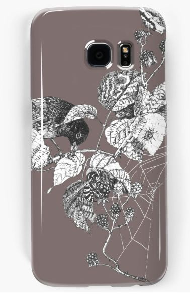 blackberry thief berry phone case