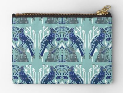 Blue Bird studio pouch
