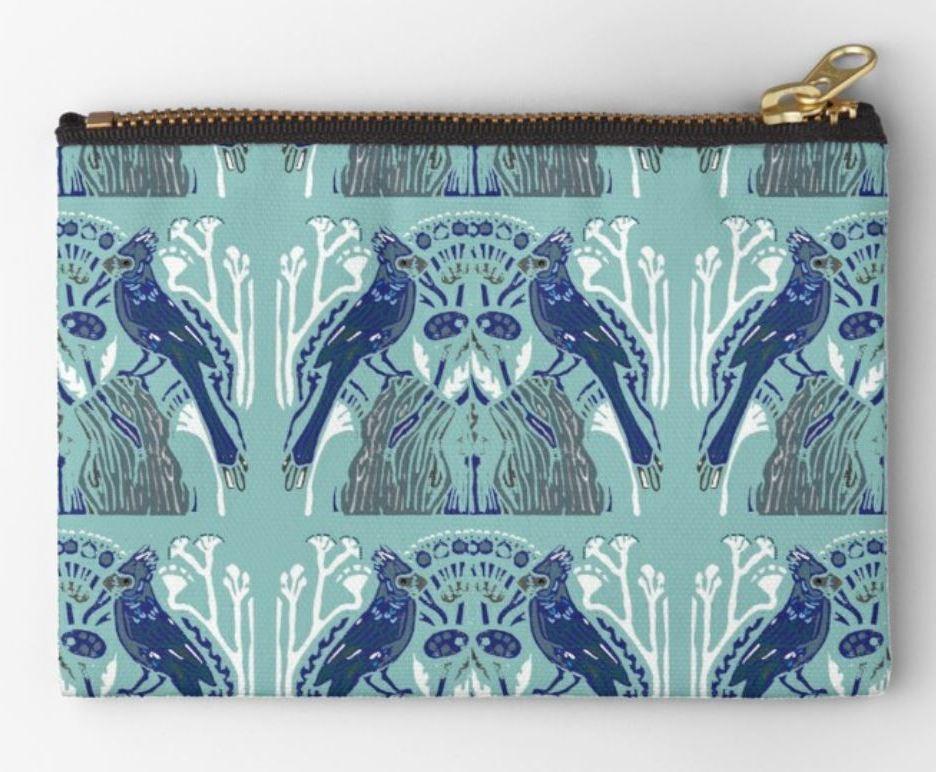 Blue Bird studio pouch