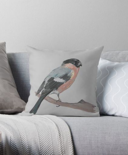 bullfinch cushion 2
