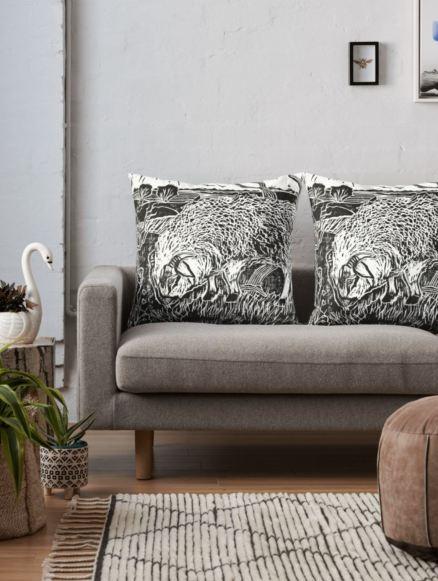dartmoor sheep pillow
