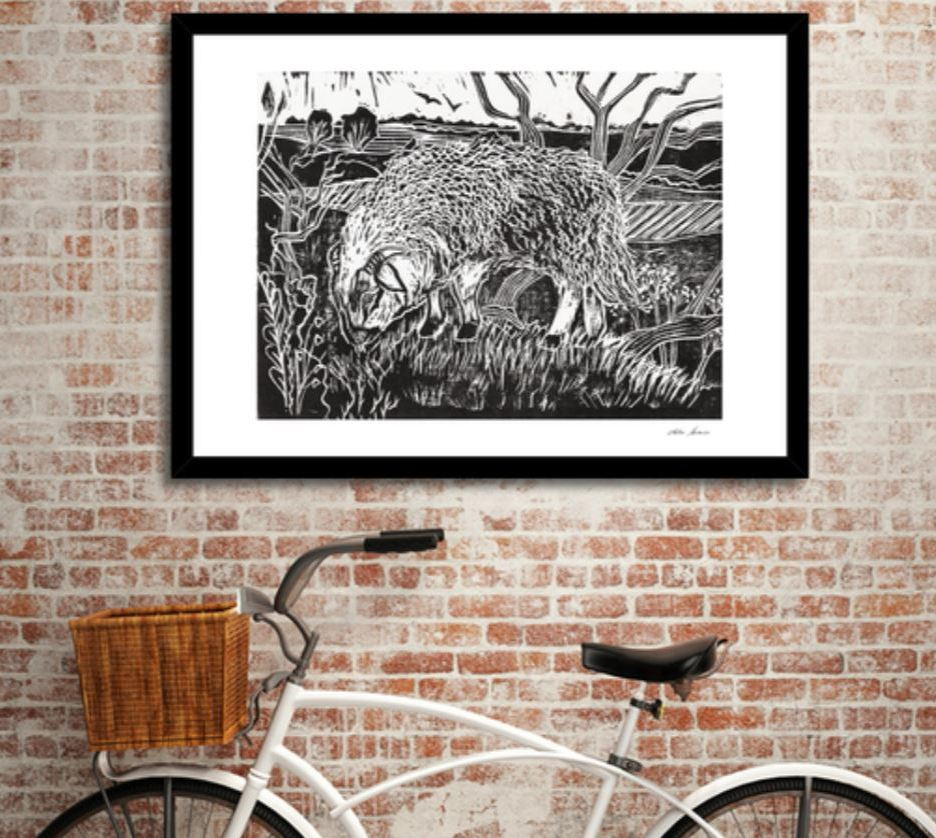 dartmoor sheep print