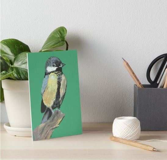 great tit art board