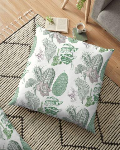 house plants floor cushion