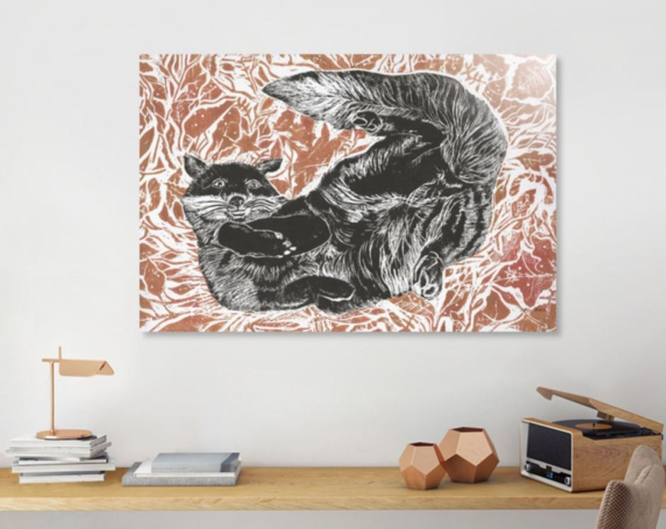 autumn fox print