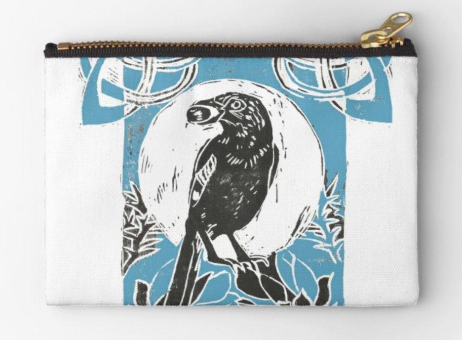 Jay in gorse blue purse