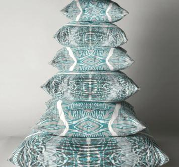 Blue cushion pile